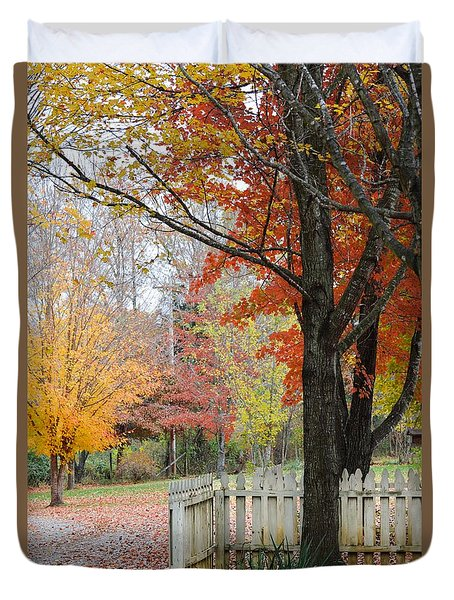 Fall Tranquility Duvet Cover by Debbie Green