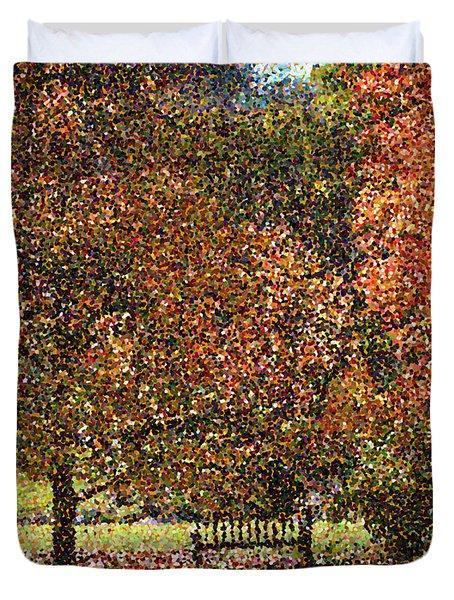Fall Trees Duvet Cover by Nicholas Burningham