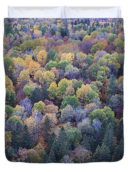 Fall Treetops Duvet Cover