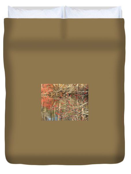 Duvet Cover featuring the photograph Fall Upon The Water by Bruce Carpenter