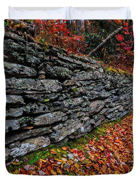 Fall Wall Duvet Cover