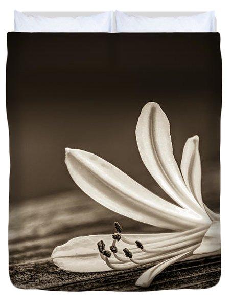 Fallen Beauty- Sepia Duvet Cover