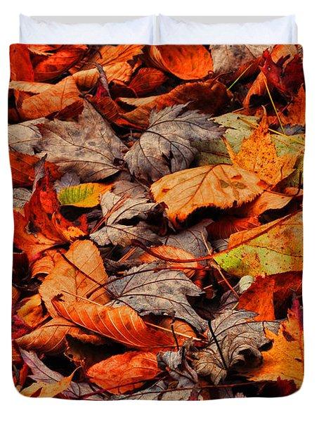 Fallen Colors Duvet Cover