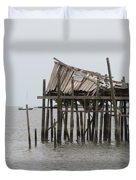 Fallen Deckhouse Duvet Cover by Fortunate Findings Shirley Dickerson