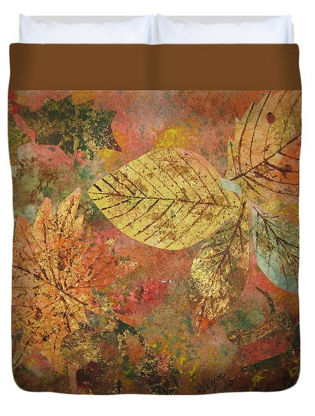 Fallen Leaves II Duvet Cover