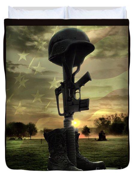 Fallen Soldiers Memorial Duvet Cover