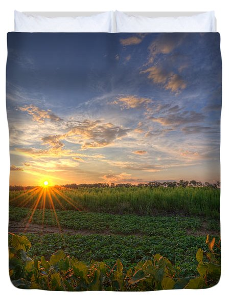 Falling Below The Horizon  Duvet Cover