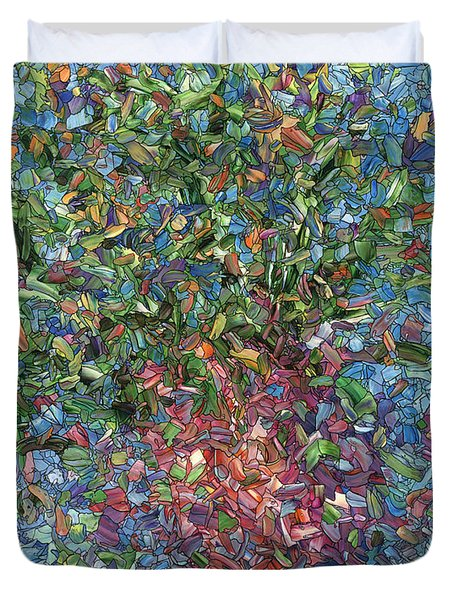 Falling Flowers Duvet Cover