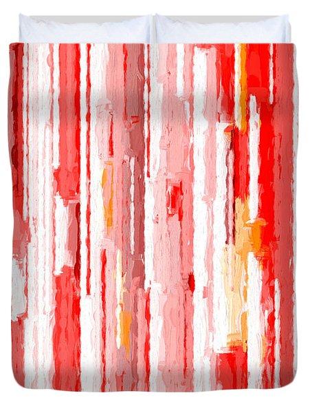 Duvet Cover featuring the digital art Falling by Ken Frischkorn