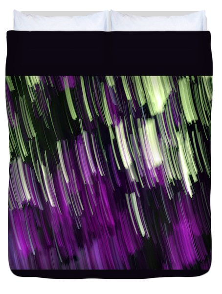 Falling Purple Duvet Cover by Eiwy Ahlund