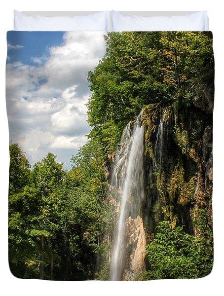 Falling Springs Falls Duvet Cover
