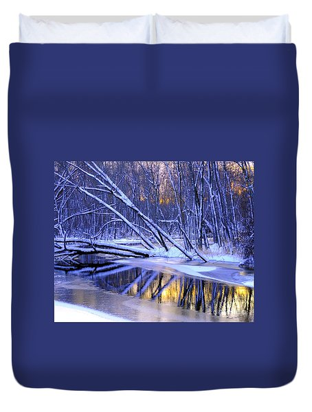 Duvet Cover featuring the photograph Falling by Terri Gostola
