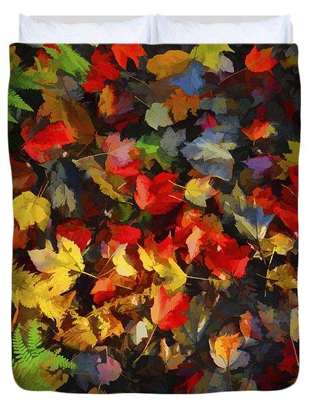 Falls Color Palette Duvet Cover by Dan Friend