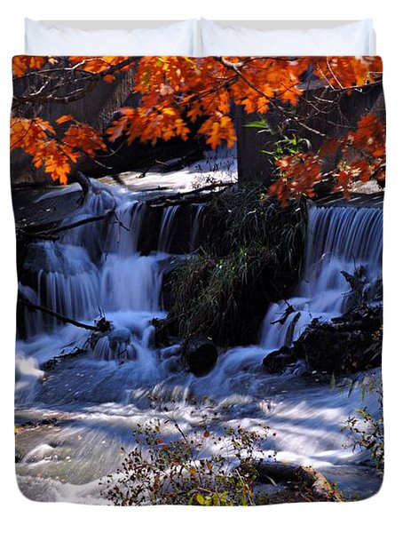 Falls In The Fall Duvet Cover
