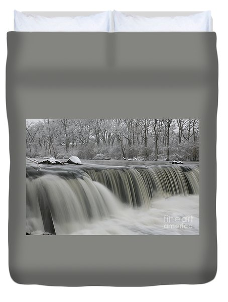 Falls In Winter Duvet Cover