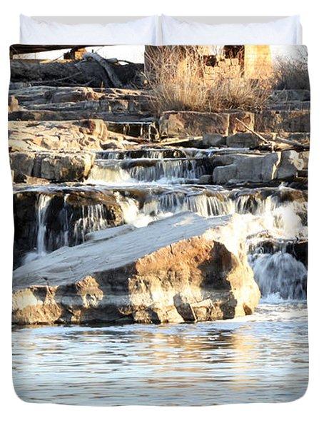 Falls Park Waterfalls Duvet Cover by Lori Tordsen