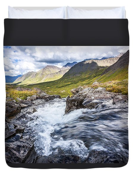 Falls With A View Duvet Cover