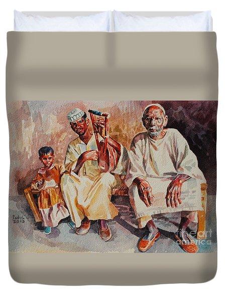 Family Duvet Cover by Mohamed Fadul