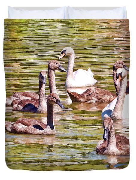 Duvet Cover featuring the photograph Family Outing by Paul Gulliver