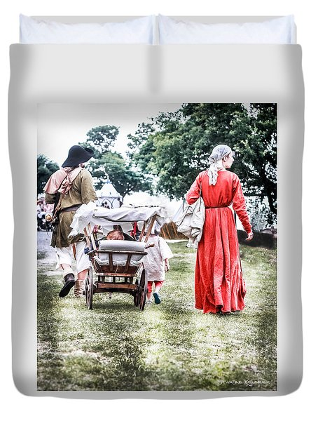 Duvet Cover featuring the photograph Family Rollin' by Stwayne Keubrick