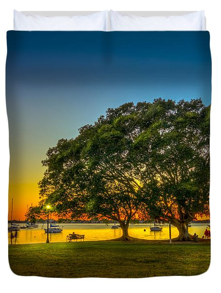 Family Sunset Duvet Cover