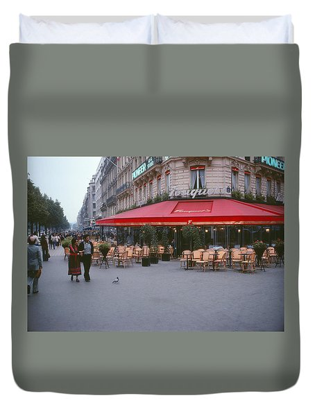 Famous Paris Restaurant - Fouquet's Duvet Cover