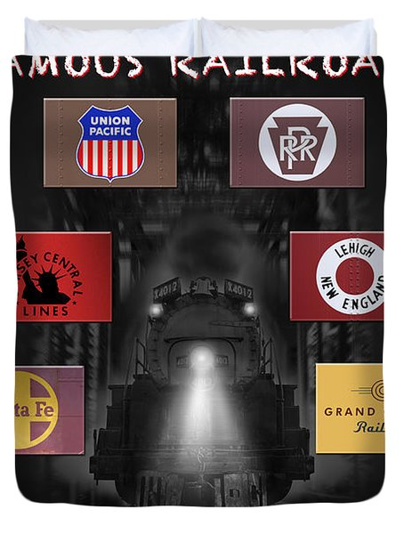 Famous Railroads Duvet Cover by Mike McGlothlen