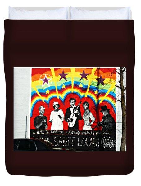 Famous St. Louisans Duvet Cover