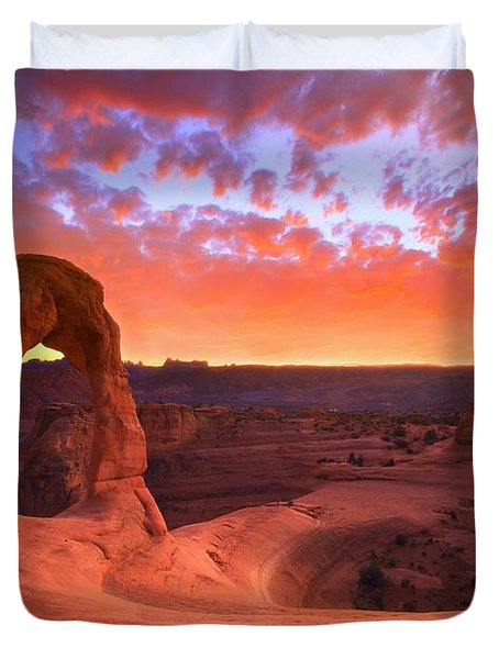 Famous Sunset Duvet Cover