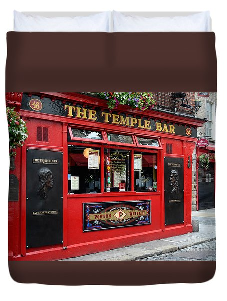 Famous Temple Bar In Dublin Duvet Cover