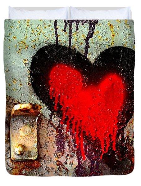 Fanatic Heart Duvet Cover by Lauren Leigh Hunter Fine Art Photography