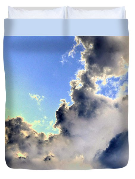 Duvet Cover featuring the photograph Fanciful Sky by Jim Whalen