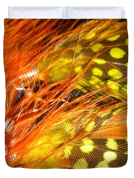 Fancy Feathers Duvet Cover by Catherine Ratliff