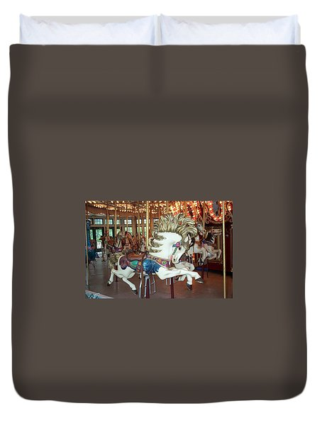 Duvet Cover featuring the photograph Fancy Flashy Pony -ri by Barbara McDevitt