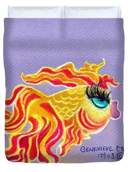 Fancytail Goldfish Duvet Cover by Genevieve Esson