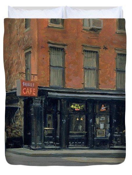 Fanellis Bar, New York, 1996 Oil On Canvas Duvet Cover