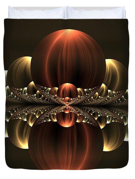 Duvet Cover featuring the digital art Fantastic Skyline by Gabiw Art