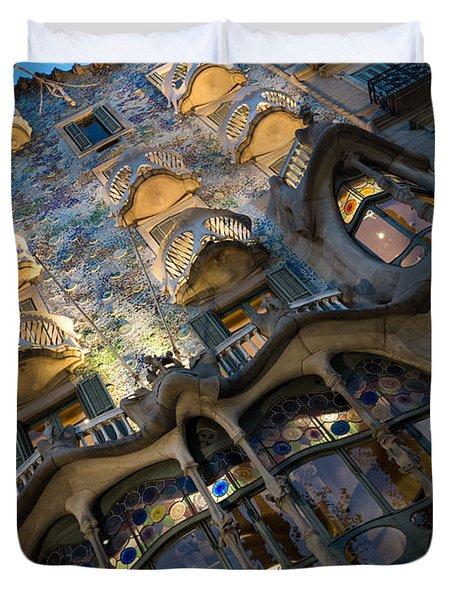 Fantastical Casa Batllo - Antoni Gaudi Barcelona Duvet Cover