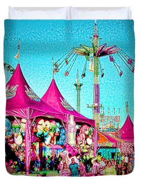 Duvet Cover featuring the digital art Fantasy Fair by Jennie Breeze