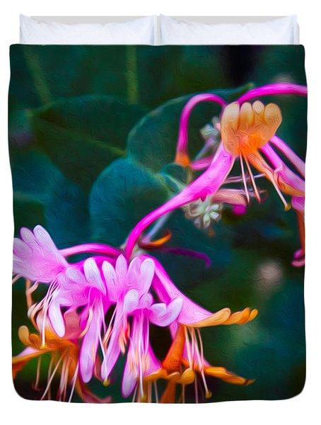 Fantasy Flowers Duvet Cover by Omaste Witkowski