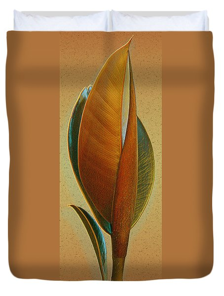 Fantasy Leaf Duvet Cover by Ben and Raisa Gertsberg