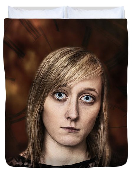 Fantasy Portrait Duvet Cover by Amanda Elwell