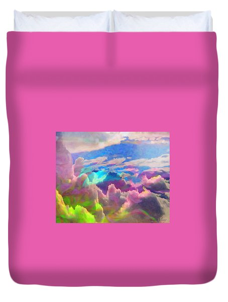 Abstract Fantasy Sky Duvet Cover