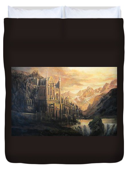 Fantasy Study Duvet Cover by Donna Tucker
