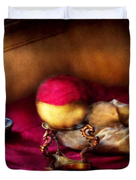 Fantasy - The Crystal Ball Duvet Cover by Mike Savad