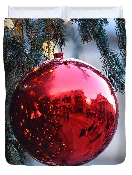 Faneuil Hall Christmas Tree Ornament Duvet Cover