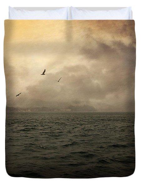 Far Apart Duvet Cover by Taylan Apukovska