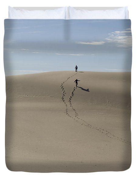 Duvet Cover featuring the photograph Far Away In The Sand by Tara Lynn