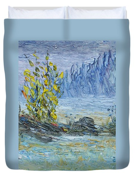 Far Off Woodland Lough Hyne. Duvet Cover