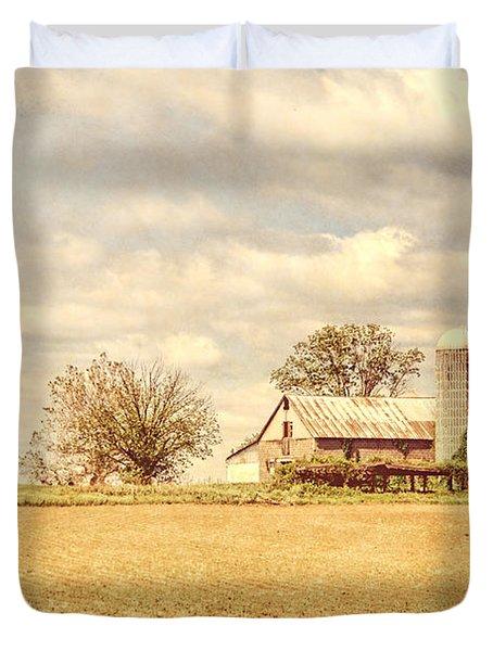 Farm And Fields  Duvet Cover